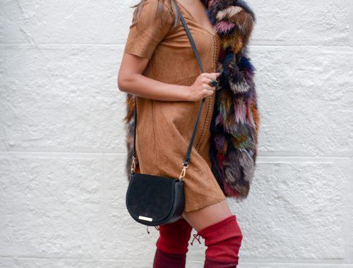 OTK Boots and a Fur Vest