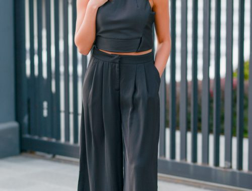 Two-Piece Pants Suit for Day or Nighttime Wear