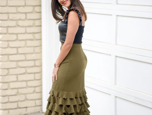 Not Your Average Army Green Skirt
