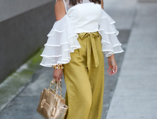 Ruffles and Gold Accents for the Spring