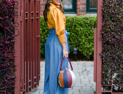 Bowling Ball Bag and Wide Leg Pants