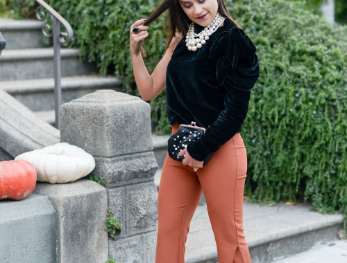 Orange Trousers: Wedding Weekend Guest Attire