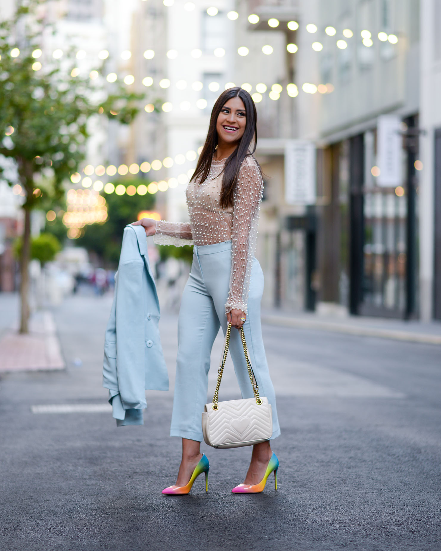 online retailer 5ceea 60819 Little Blue Suit and Rainbow Louboutins | Kelsey Kaplan Fashion