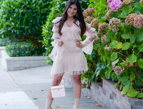 Funk Up a Pink Ruffle Dress Like This