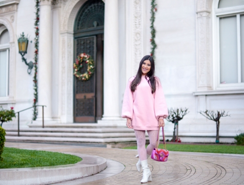 Little Pink Sweatshirt Dress