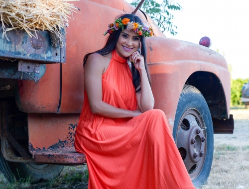 An Orange Maxi at Park Winters Summerland